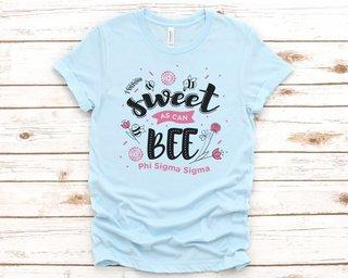 Phi Sigma Sigma Sweet As Can Bee Tee