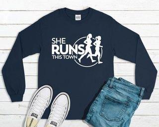 She Runs This Town Long Sleeve T-Shirt