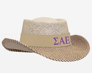 Sigma Alpha Epsilon Straw Hat