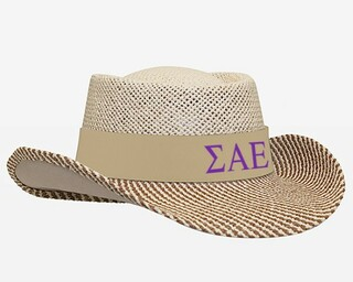 Sigma Alpha Epsilon Straw Hat