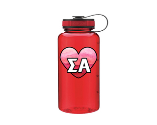 Sigma Alpha Heart Wide Mouth Water Bottle