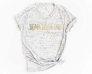 Sigma Delta Tau Alumna Vneck Tee