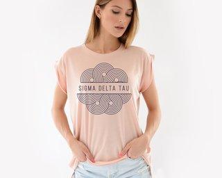 Sigma Delta Tau Geo Scroll Muscle Tee