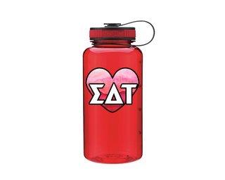 Sigma Delta Tau Heart Wide Mouth Water Bottle