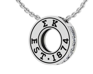 Sigma Kappa Circle Established Charm Necklace - ON SALE!