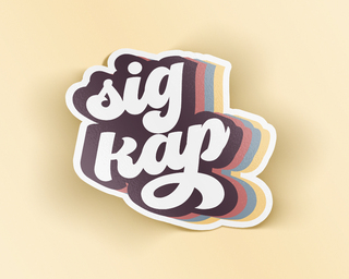 Sigma Kappa Retro Sticker