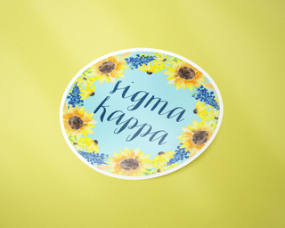 Sigma Kappa Sunflower Sticker Sticker