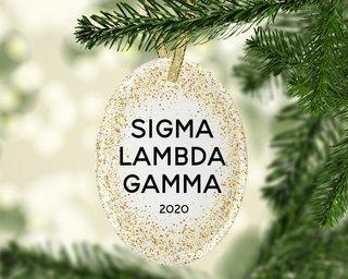 Sigma Lambda Gamma Gold Fleck Oval Ornament