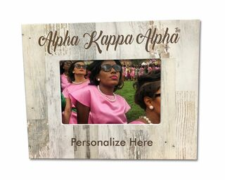 Sorority White Faux Wood Photo Frame