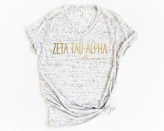 Zeta Tau Alpha Alumna Vneck Tee