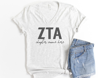 Zeta Tau Alpha Chapter V-Neck Tee