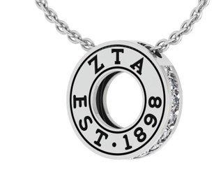 Zeta Tau Alpha Circle Established Charm Necklace - ON SALE!