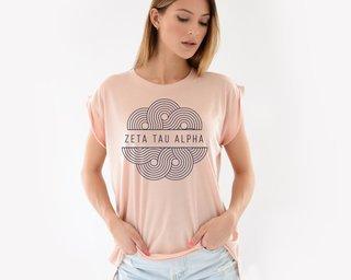 Zeta Tau Alpha Geo Scroll Muscle Tee