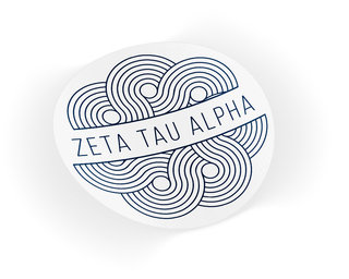 Zeta Tau Alpha Geo Scroll Sticker Sticker