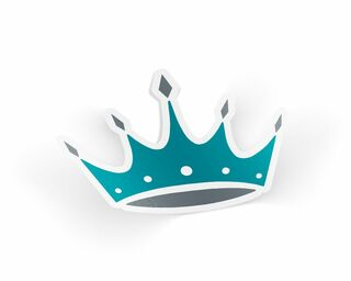 Zeta Tau Alpha Crown Sticker