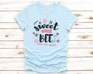 Zeta Tau Alpha Sweet As Can Bee Tee