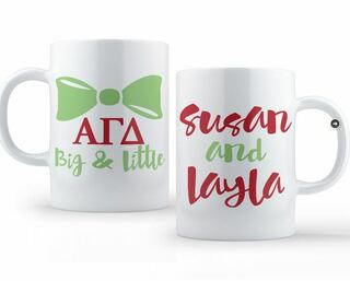 Alpha Gamma Delta Big & Little Coffee Mug