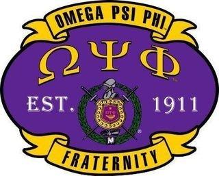 Omega Psi Phi Banner Crest - Shield Decal