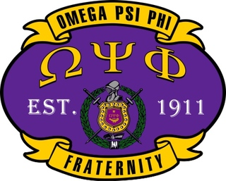 Omega Psi Phi Banner Crest - Shield Decal