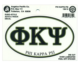 Phi Kappa Psi Euro Decal Oval Sticker