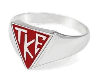 Tau Kappa Epsilon House Plate Ring (Red)