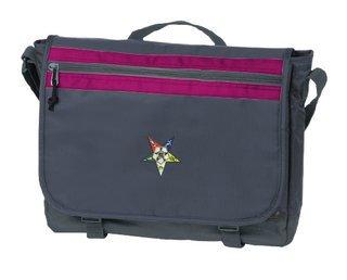 DISCOUNT-Order of Eastern Star Nailhead Messenger Bag