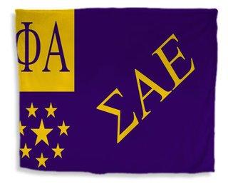 Sigma Alpha Epsilon Flag Giant Velveteen Blanket