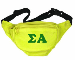 Sigma Alpha Sorority Big Letter Fanny Pack