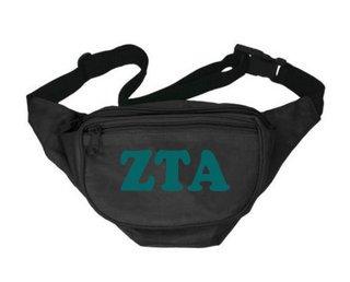 Zeta Tau Alpha Sorority Big Letter Fanny Pack