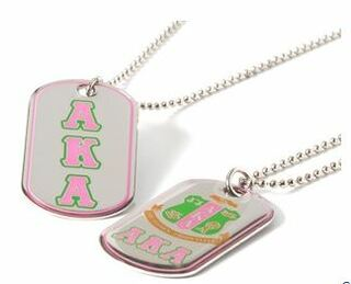 Alpha Kappa Alpha Reversible Dog Tags