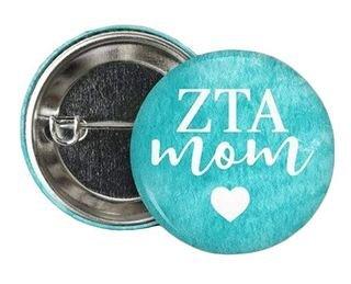 Zeta Tau Alpha Mom Button