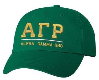 Alpha Gamma Rho Old School Greek Letter Hat