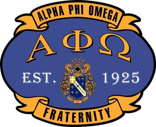 Alpha Phi Omega Banner Crest - Shield Decal