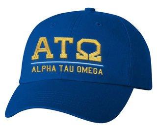 Alpha Tau Omega Old School Greek Letter Hat