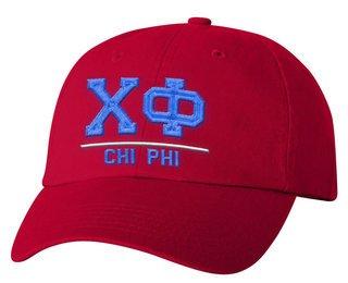 Chi Phi Old School Greek Letter Hat