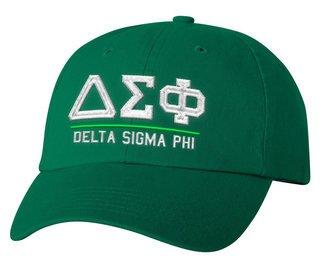Delta Sigma Phi Old School Greek Letter Hat