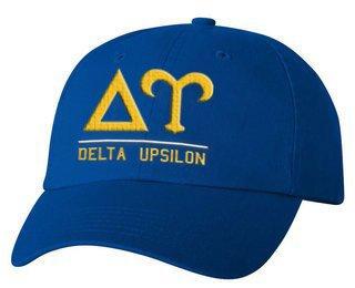 Delta Upsilon Old School Greek Letter Hat