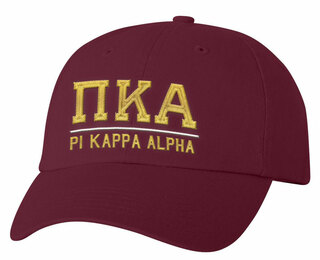 Pi Kappa Alpha Old School Greek Letter Hat