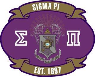 Sigma Pi Banner Crest - Shield Decal