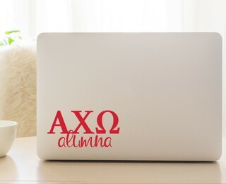 Alpha Chi Omega Alumna Decal