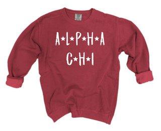 Alpha Chi Omega Comfort Colors Starry Night Crew