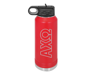 Alpha Chi Omega Letters Stainless Water Bottle