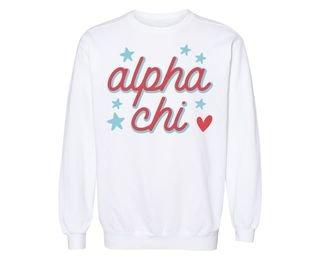 Alpha Chi Omega Star Sweatshirt