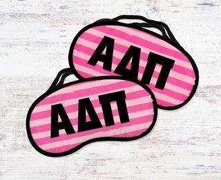 Alpha Delta Pi Pink Stripes Eye Mask