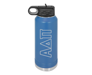 Alpha Delta Pi Letters Stainless Water Bottle