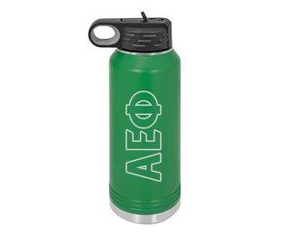Alpha Epsilon Phi Letters Stainless Water Bottle