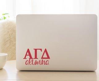Alpha Gamma Delta Alumna Decal