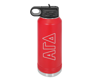 Alpha Gamma Delta Letters Stainless Water Bottle