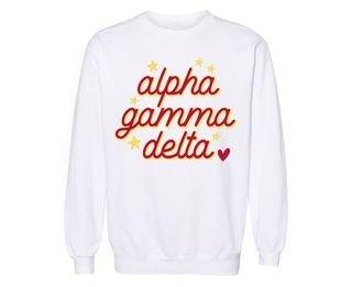 Alpha Gamma Delta Star Sweatshirt