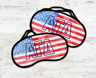 Alpha Gamma Delta Watercolor Flag Eye Mask